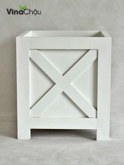 Chậu BOX-X trắng