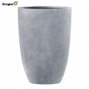Chậu composite Clonmel màu đá xanh (lead)