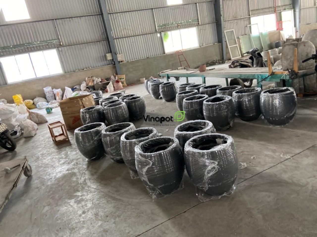 Xưởng sản xuất chậu xi măng nhẹ của Vinapot